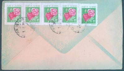 18B22 Dopis - Vietnam /  Tachov , dekorativní frankatura