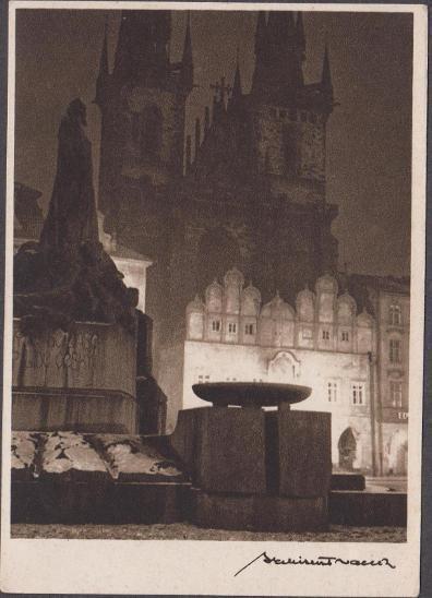 10B1885 Praha Týnský kostel - 1. ze 16 ks fotografií arch. Vaňka - vč.