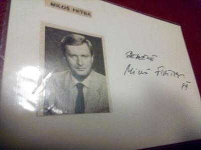 autogram - MILOŠ FRÝBA /89/
