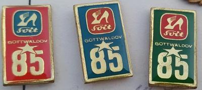 P65 Odznak SVIT Gottwaldov 22x12mm   3ks