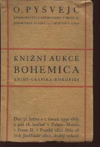 Knižní aukce Bohemica, Oldřich Pyšvejc