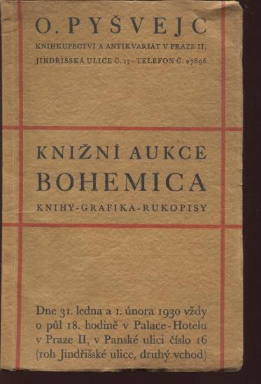 Knižní aukce Bohemica, Oldřich Pyšvejc - Knihy