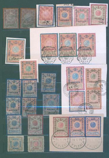 13D108 Soubor- kolky Rakousko- Uhersko- 14 Heller!!+ 1+2+3+6 Kronen !