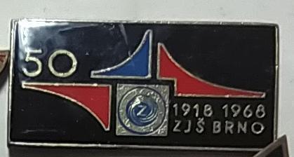 P54 Odznak SPARTAK  ZJŠ Brno 30x15mm 1ks