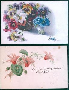25A598 Srdečné  přání - květy
