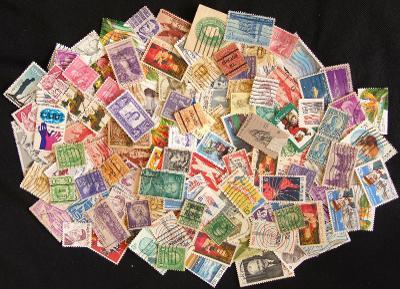 Sbírka známek z USA, prezidenti a další staré známky (2)