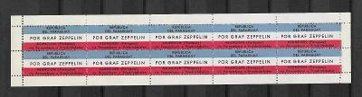 Graf Zeppelin  komletní 10ti blok Paraguay,Asuncion, **, mimoř.vzácné!