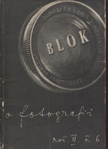 Blok - časopis pro umění, roč. II., číslo 6/1948. O f