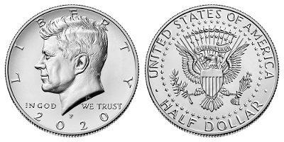 Kennedy Half Dollar 2020 P z bankovního pytle