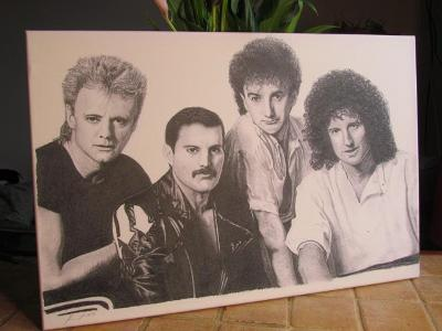 Kresba skupiny Queen