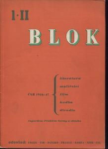 Blok - časopis pro umění, roč. II., číslo 1/1947. ČS