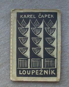 Čapek - Loupežník (1. vydání z roku 1920)