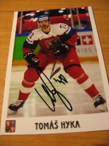 Tomáš Hyka - ČR - orig. autogram