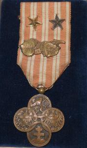 RČS - Válečný kříž - medaile čs Legie - originál, vše včetně ratolesti