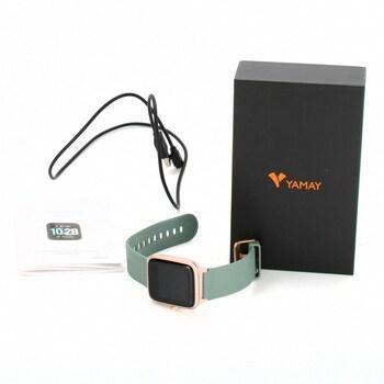 Smartwatch Yamay IP68 stříbrná - Chytrá elektronika