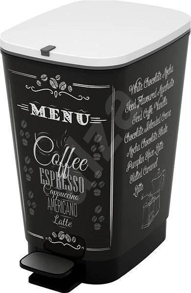 Odpadkový koš KIS Koš na odpad Chic Bin M - Coffee Menu 35l
