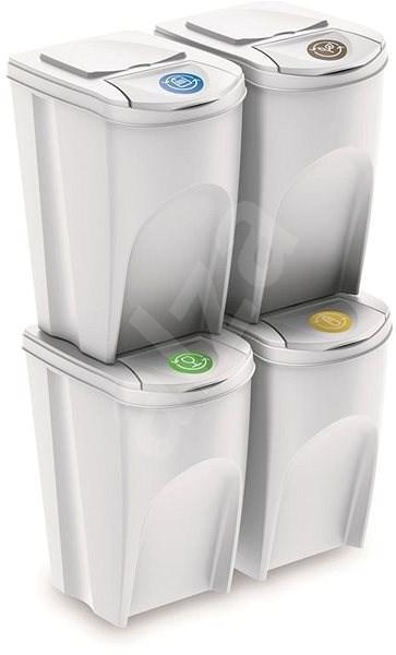 Odpadkový koš Prosperplast koš na tříděný odpad 4x35l PH Bí