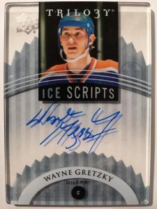 ICE SCRIPTS AUTOGRAPH Wayne Gretzky - Edmonton Oilers