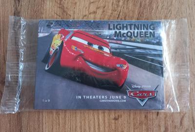 Balíček promo karet z filmu Cars - Auta