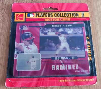 MLB Motion card - Manny Ramirez (3D karta)