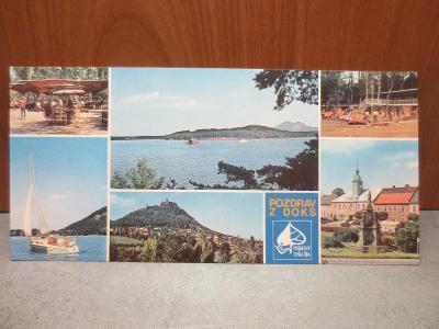 Pozdrav z Doks - originální panoramatická pohlednice
