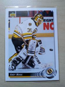 Andy Moog Upper Deck 1992-93 č. 329 Boston Bruins