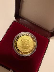 Zlatá mince 10000 Kč - 100 let československé měny PROOF