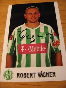 Robert Vágner - Újpest FC - orig. autogram