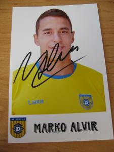 Marko Alvir - fotbal - orig. autogram
