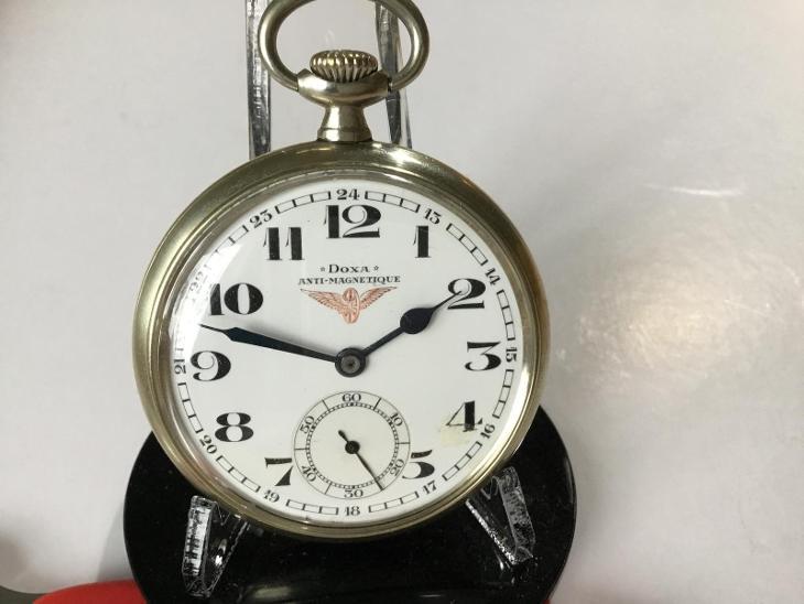 Starožitné dvoupláštové Nadražácké ~ Swiss hodinky DOXA - Starožitnosti