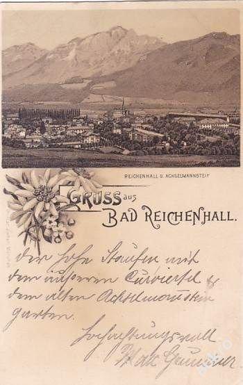 NĚMECKO - BAD REICHENHALL - LITOGRAFIE - 17-GX13