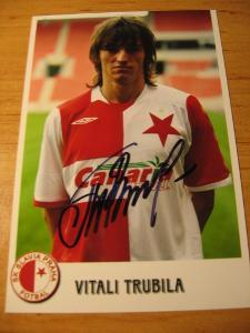 Vitali Trubila - Slavia Praha - orig. autogram