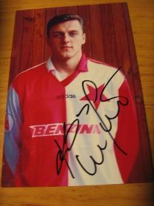 Luboš Kozel - Slavia Praha - orig. autogram