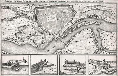 Litoměřice, Merian, mědiryt, 1650