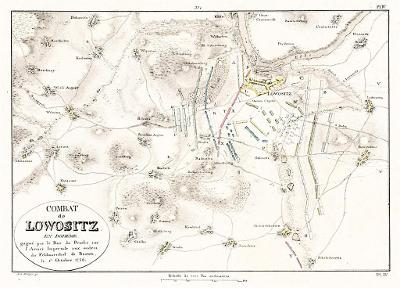 Lovosice bitva, Jomini, mědiryt , 1811