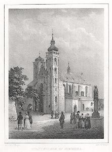 Nymburk Sv. Jiljí, Semmler, litografie, 1845