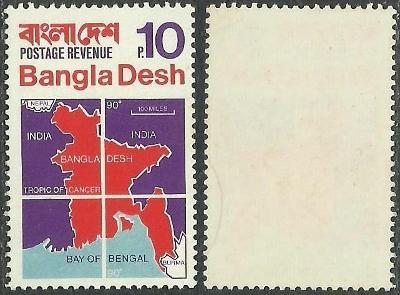 Bangladéš 1971 č.1-8, mapa