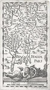 Baeck Ellias, Lombardia, mědiryt, (1710)