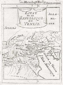 Veneto, Mallet, mědiryt, 1719