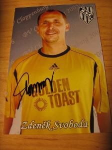 Zdeněk Svoboda - fotbal - originál autogram
