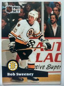 Bob Sweeney #6 Boston Bruins 1991/92 Pro Set French