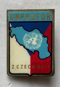 VOJENSKÝ ODZNAK-UNPROFOR-2.ČESKÝ BATALION
