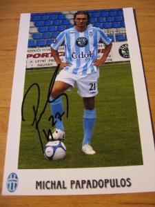 Michal Papadopulos - Ml. Boleslav - orig. autogram