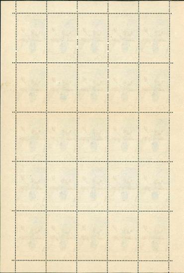 11A25 Kompletní arch známek 60h Československo - Filatelie