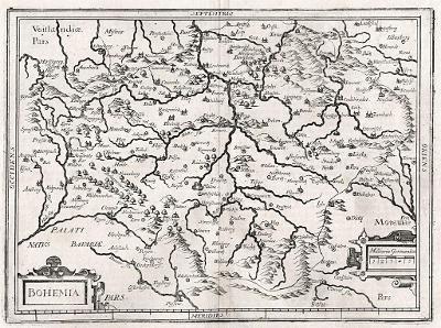 Merian M : Bohemia, mědiryt 1664