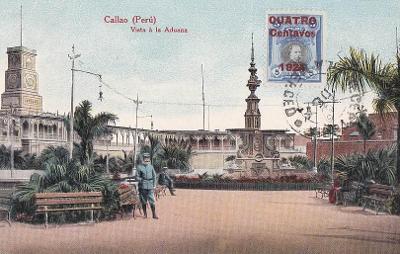 PERU - CALLAO - FONTÁNA U PŘÍSTAVU  - 7-TW39