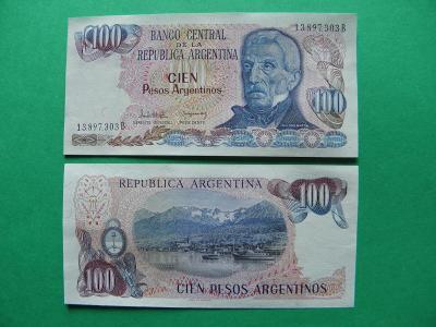 100 Pesos Argentinos ND(1983-84) Argentina - P315 - aUNC - /I173/