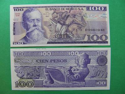 100 Pesos 25.3.1982 Mexico - P74c - UNC - /I179/