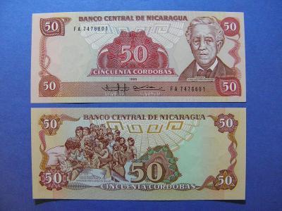 50 Cordobas 1985(1988) Nicaragua - P153 - UNC - /I180/