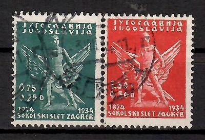 495 - Jugo 1934, Mi 275-6, eur 10,